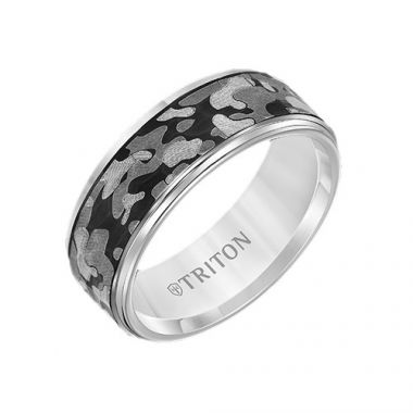 Triton Tungsten Carbide Wedding Band