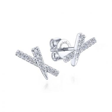 Gabriel & Co. 14k White Gold Kaslique Diamond Stud Earrings