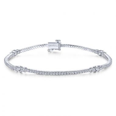 Gabriel & Co. 14k White Gold Lusso Diamond Tennis Bracelet
