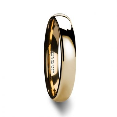 Thorsten ORO Domed Gold Tungsten Wedding Ring - 4mm - 10mm