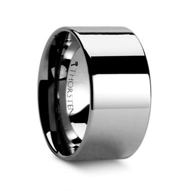 Thorsten CHARLESTON Pipe Cut Polished Finish Tungsten Carbide Band - 12mm