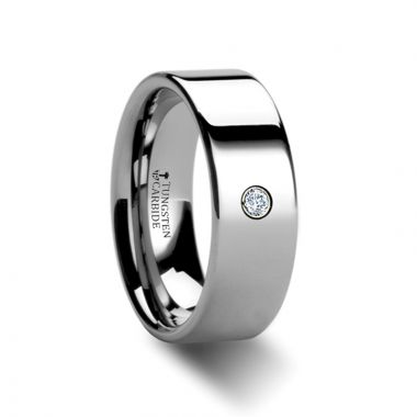 Thorsten BRISTOL Pipe Cut Polished Tungsten Diamond Ring