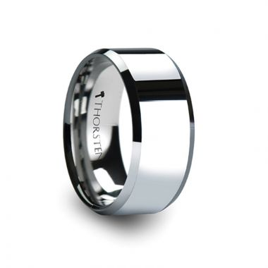 Thorsten AKRON Beveled Tungsten Carbide Ring - 10mm
