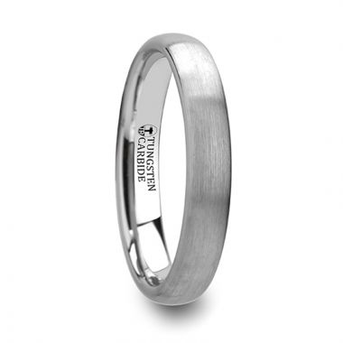 Thorsten PYTHIUS Round Brushed White Tungsten Ring - 2mm - 8mm
